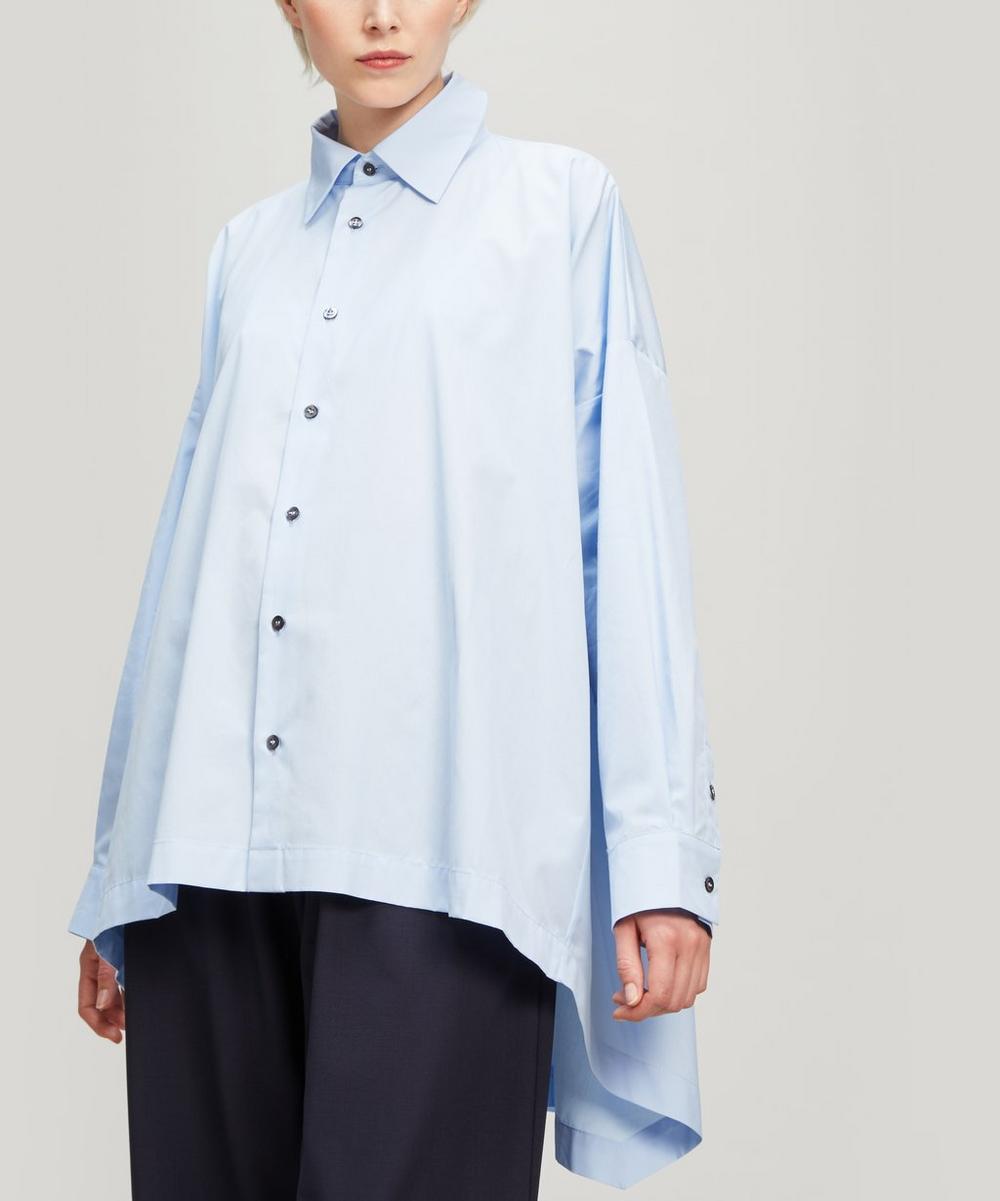 Dropped Hem Cotton Shirt