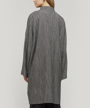 Fiane Heavy Cotton Collarless Coat