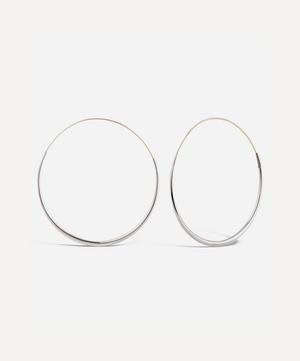 Silver Queenie Hoop Earrings