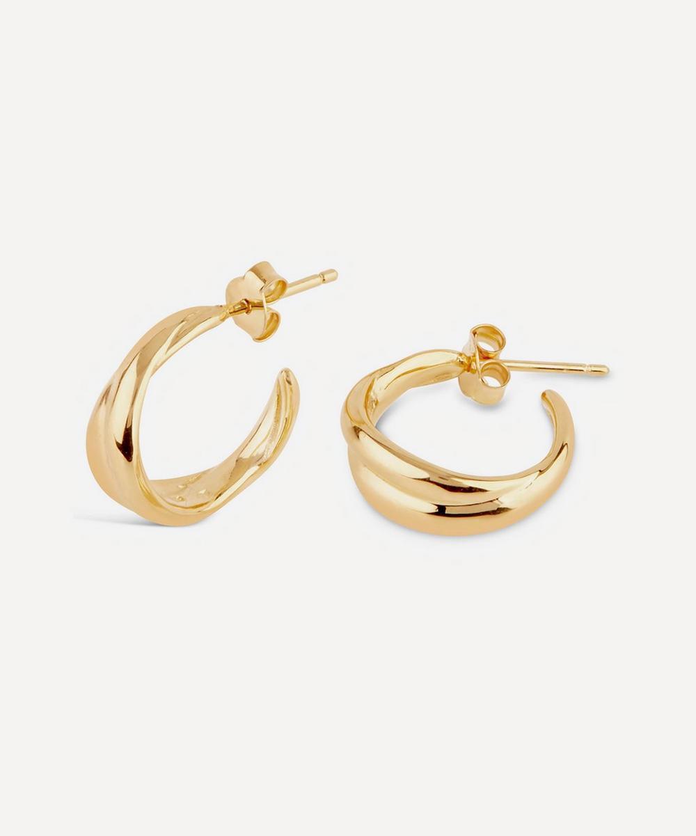 Gold Vermeil Twist Small Hoop Earrings