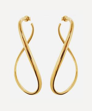 Gold Vermeil Wave XL Hoop Earrings