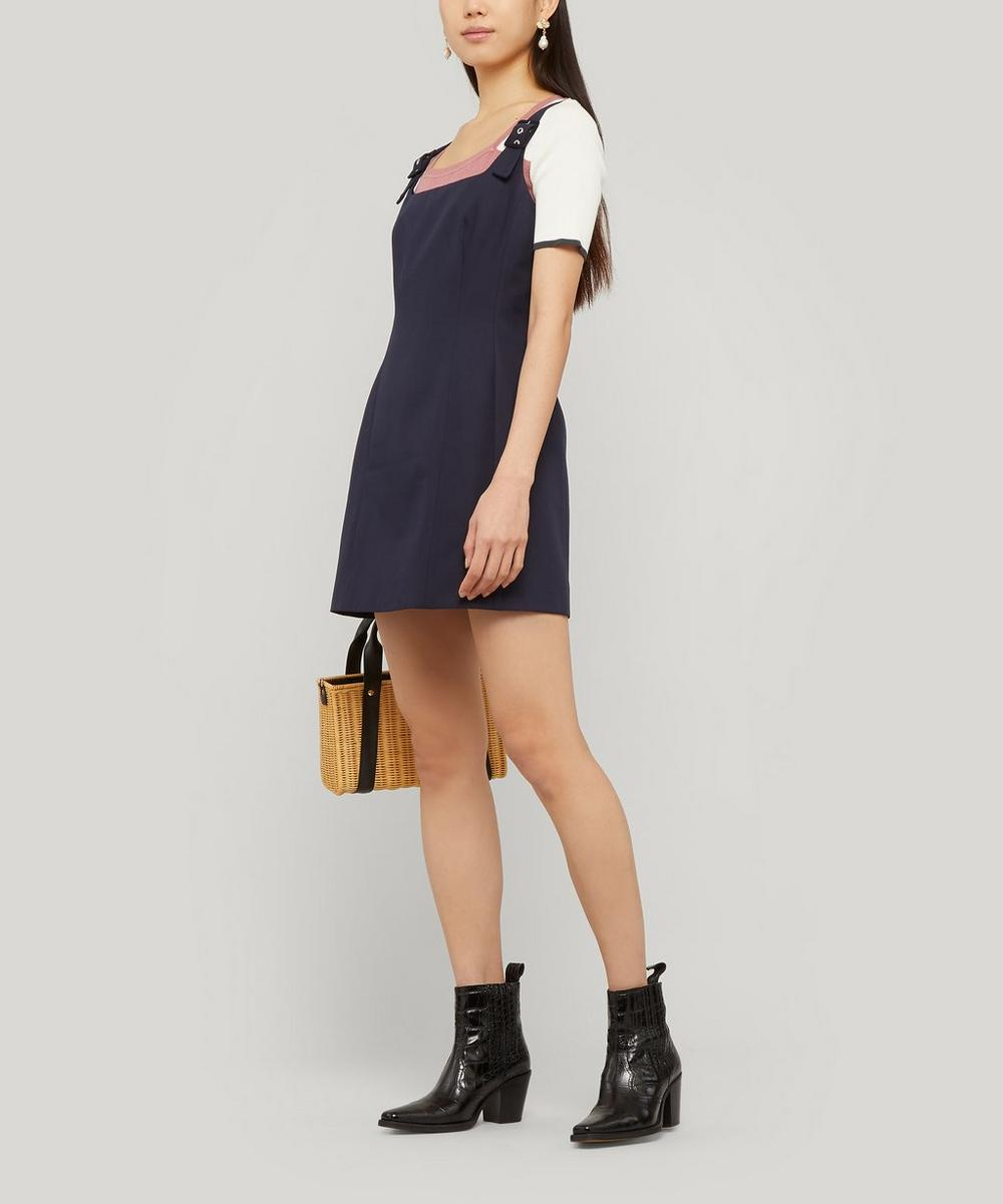 Square Neck Fitted Dress