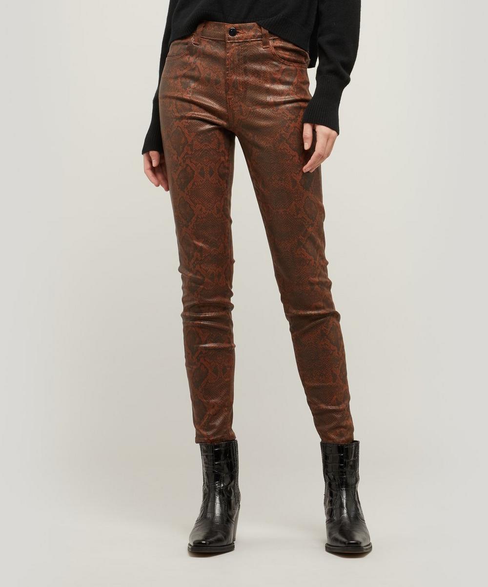 Alana Snakeskin Print Super Skinny Jeans