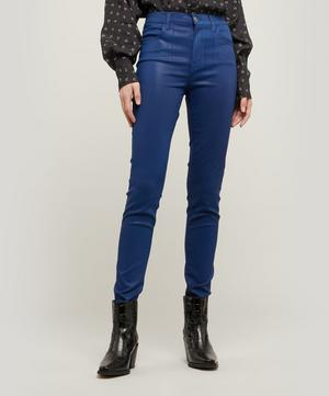 Maria High-Rise Sateen Super Skinny Jeans