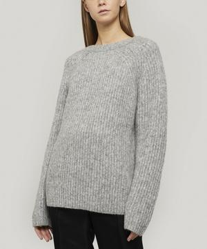 Ribbed Crew-neck Knit