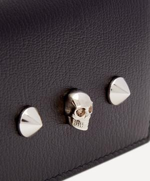 Skull Leather Card Holder on Chain