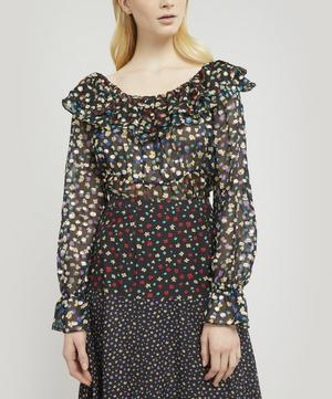 Chloe Tiered Floral-Print Blouse