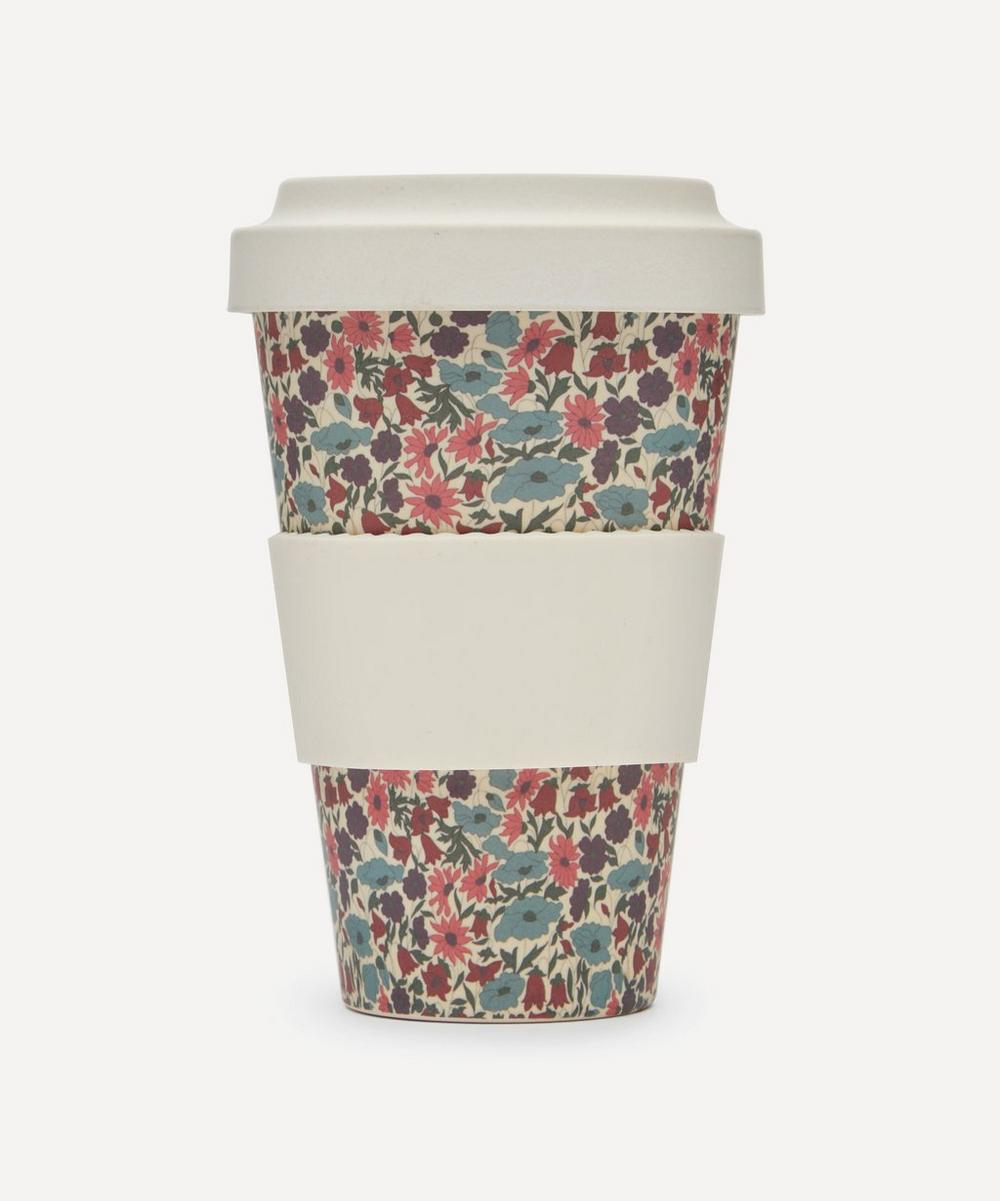 Liberty London Poppy And Daisy Print Bamboo Takeaway Coffee Cup In Purple