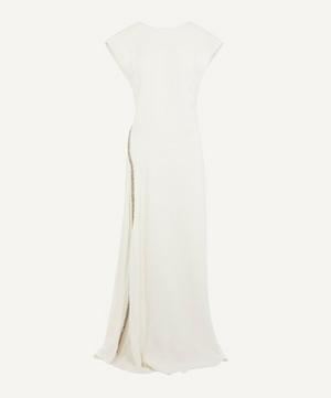 Crystal-Embellished Stretch-Crepe Gown