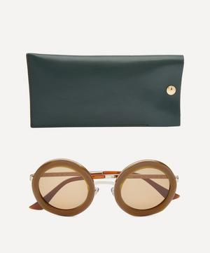Cross Round Acetate Sunglasses