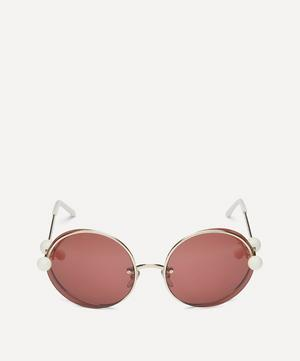 Round Double Metal Frame Sunglasses