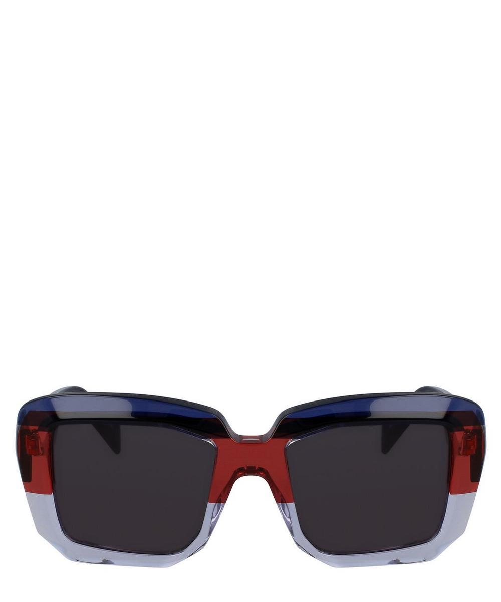 Tri Colour Square Sunglasses