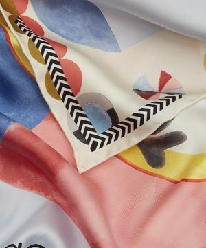 Abstract Polka Dot Silk Scarf