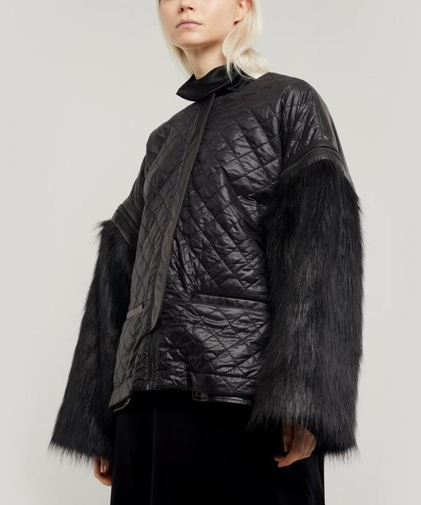 Oversized Faux Fur Leather Jacket