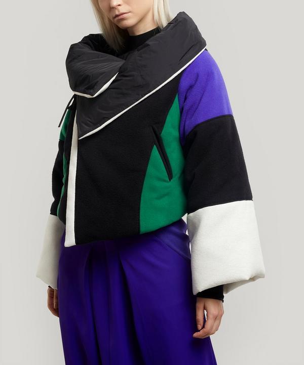 Short Fold-Over Puffer Jacket
