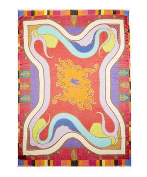 Raji Geometric Paisley Print Cashmere Scarf
