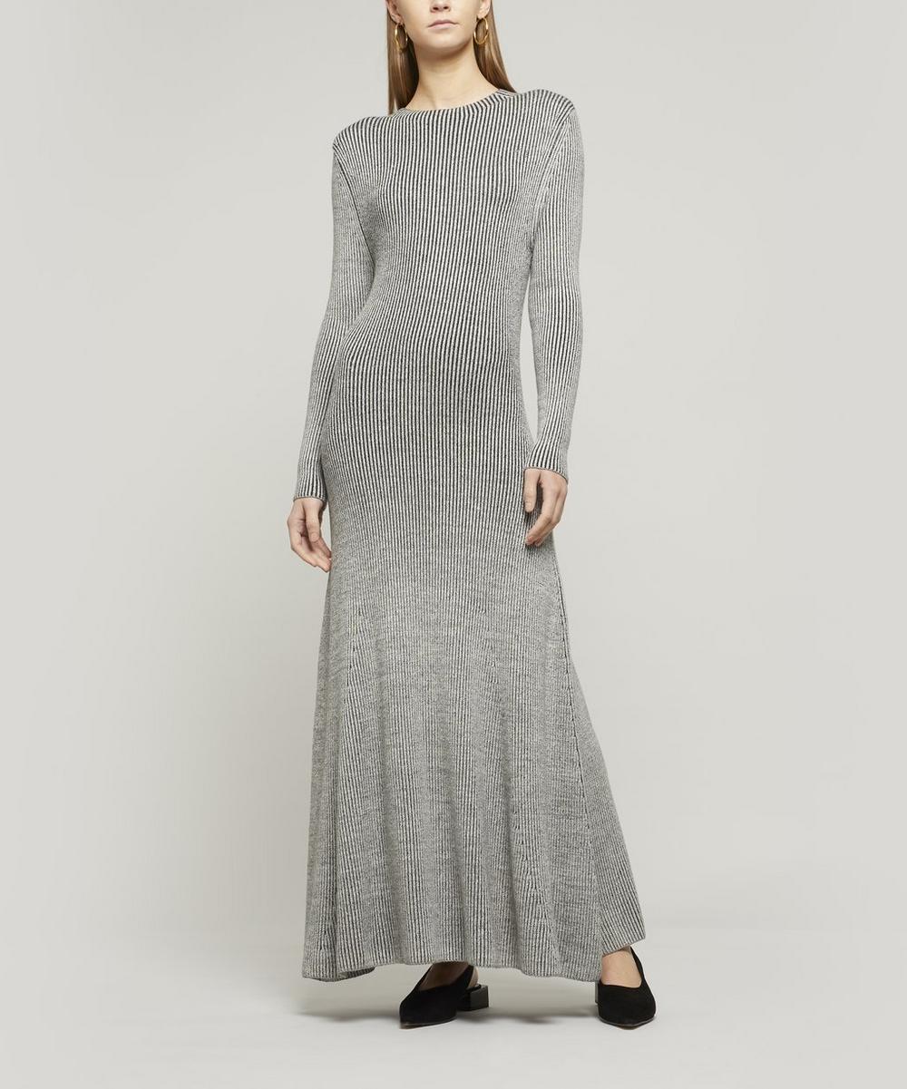 Jasmine Long-Sleeve Knit Midi-Dress