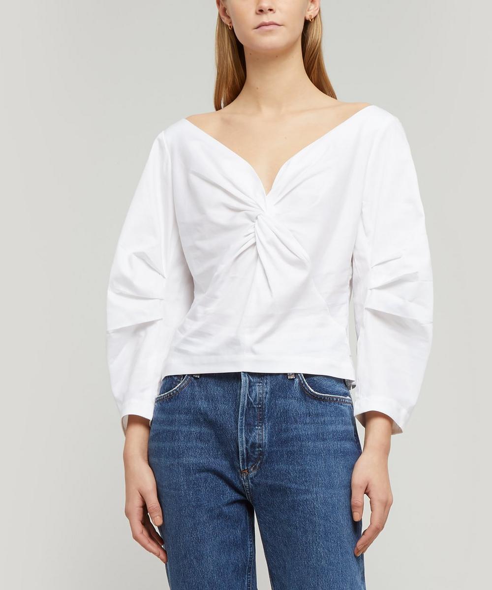 Lela Twist Detail Cotton Top
