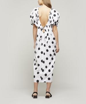 Romina Polka-Dot Cotton Midi-Dress