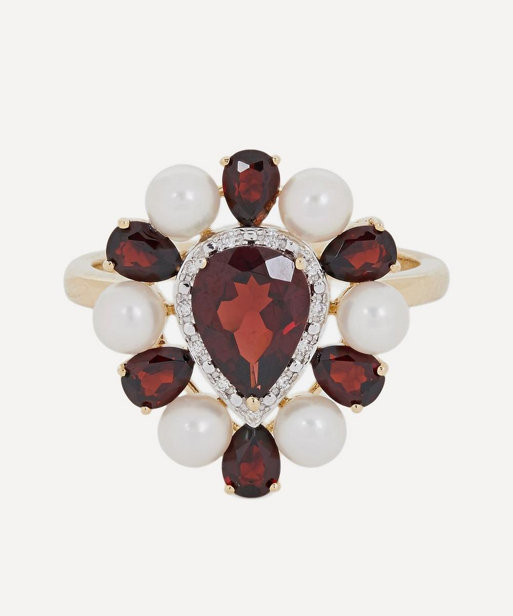 Anissa Kermiche - Gold Woman in Red Pearl and Garnet Ring