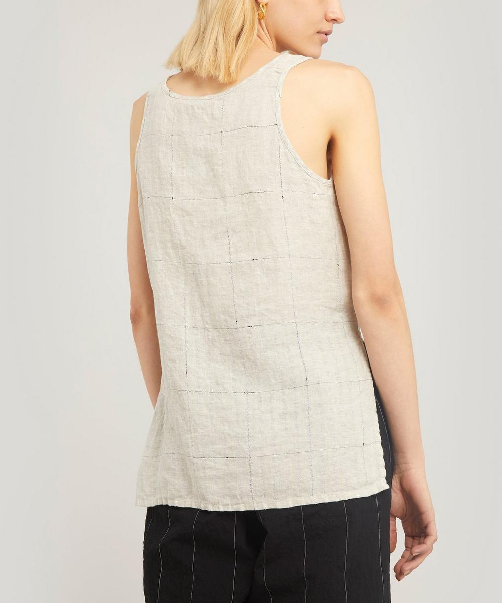 Linen Grid Vest