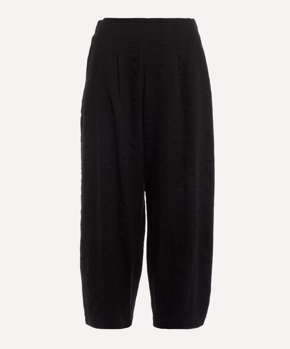 Stripe-Jacquard Woven Culottes