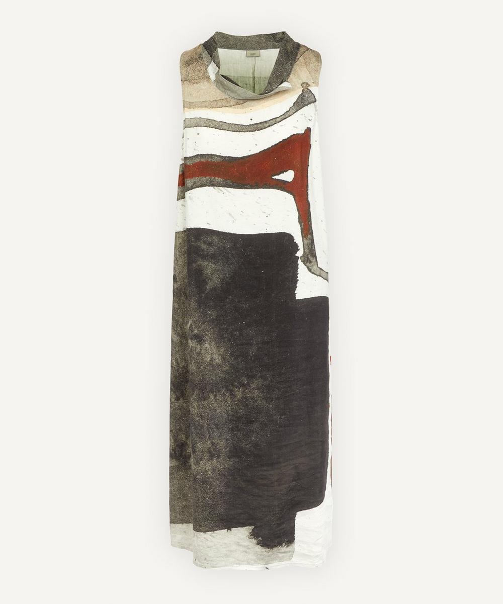 Sleeveless Dark Watercolour Dress
