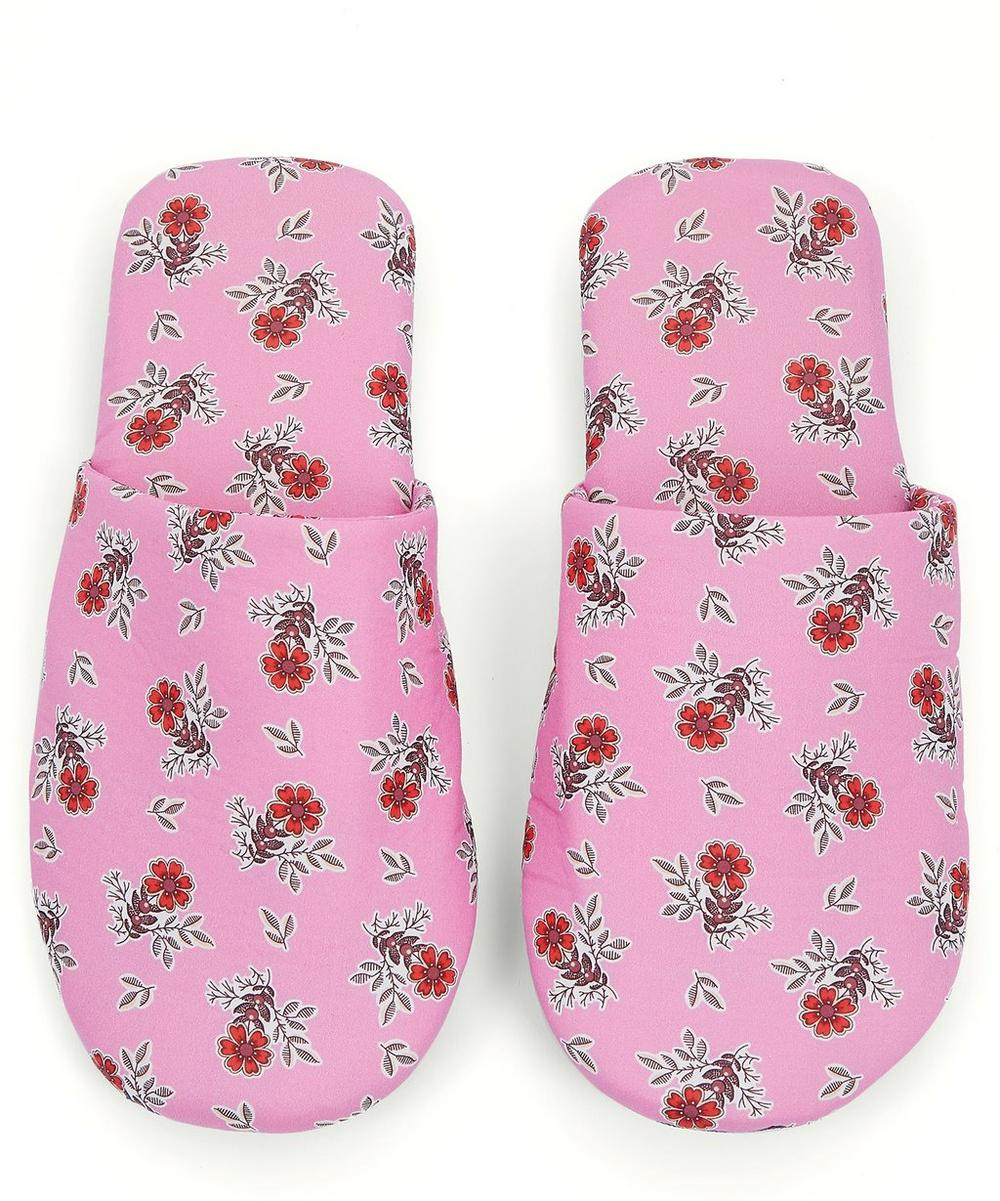 Poppy Florence Tawn Lawn™ Cotton Travel Slippers