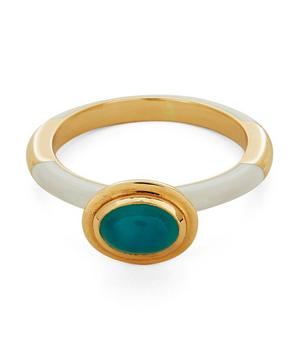 Gold Candy Lacquer Oval Peruvian Opal Ring