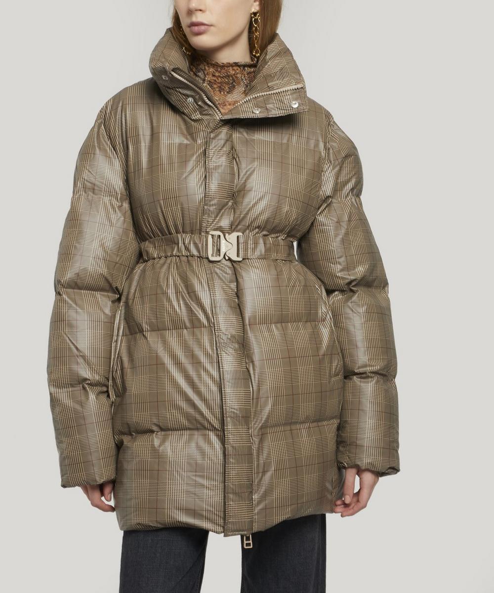 Rains Coats CHECK PUFFER COAT