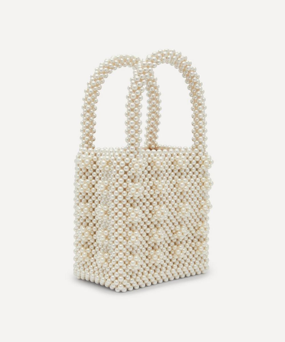 Antonia Faux Pearl Beaded Handbag