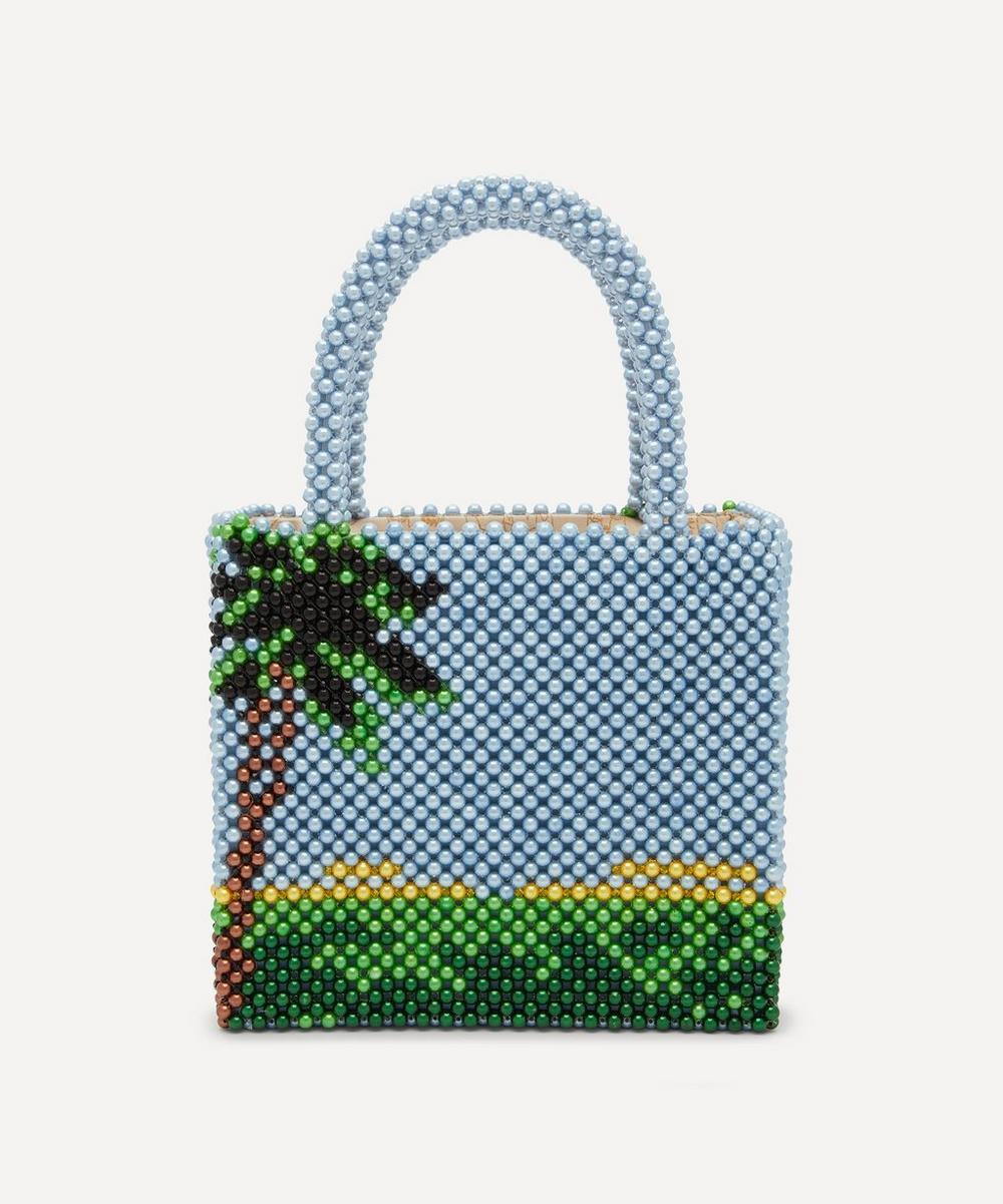 Earl Faux Pearl Beaded Handbag