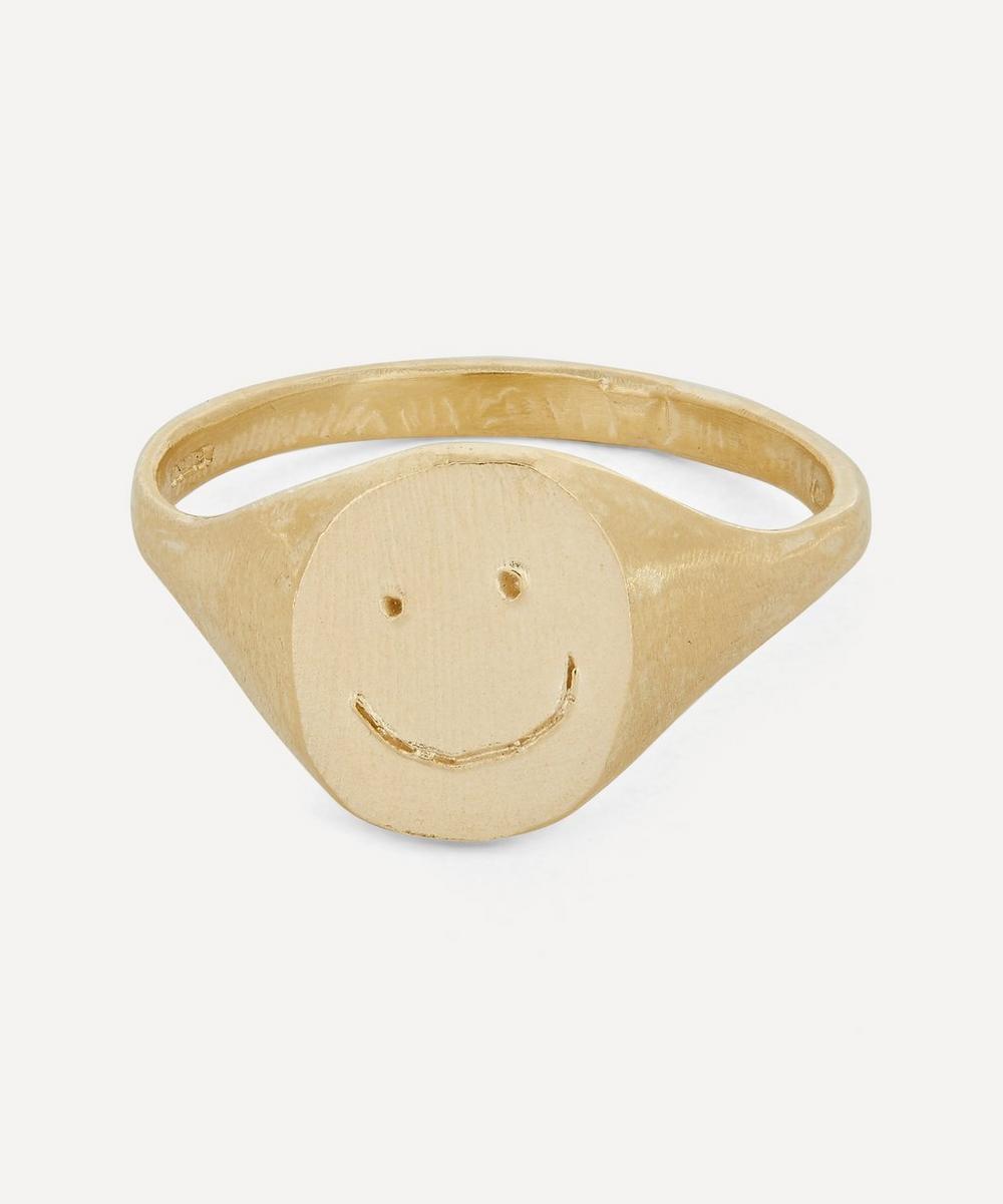 Seb Brown - 9ct Gold Smiley Signet Ring