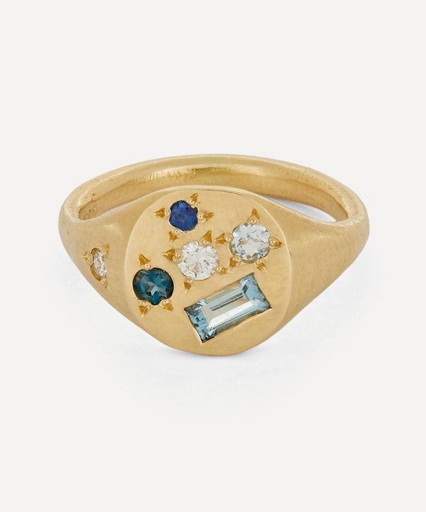 Seb Brown - 14ct Gold Treasure Multi-Stone Signet Ring