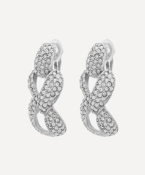 Pavé Crystal Chain-Link Earrings