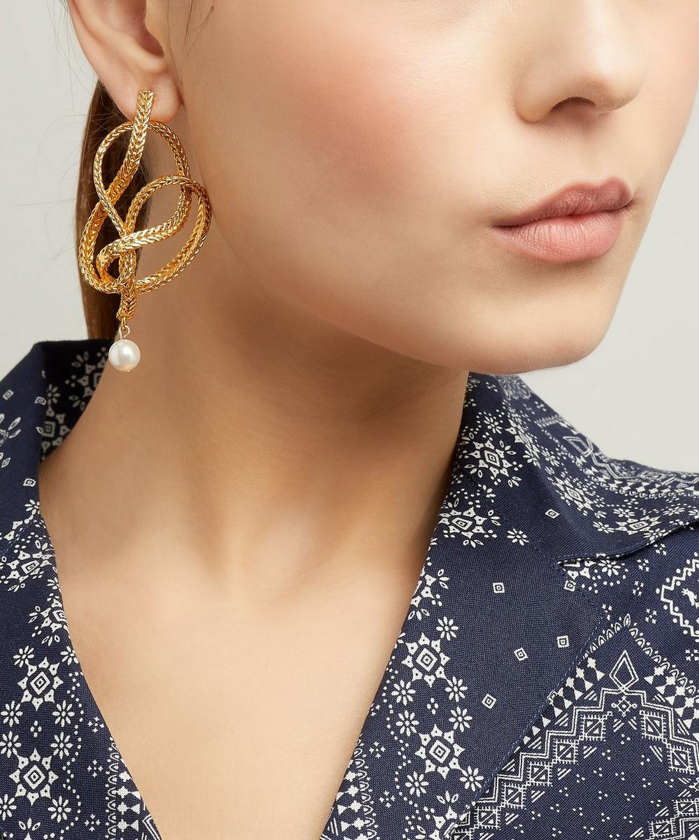 Braided Chain Earrings