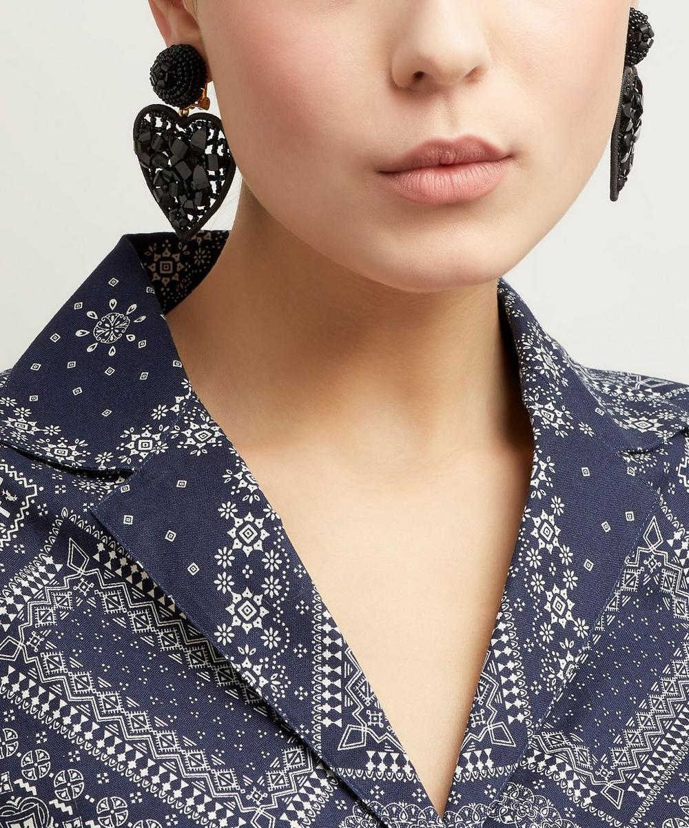 Embellished Heart Earrings