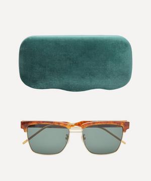 Square Acetate and Metal Sunglasses