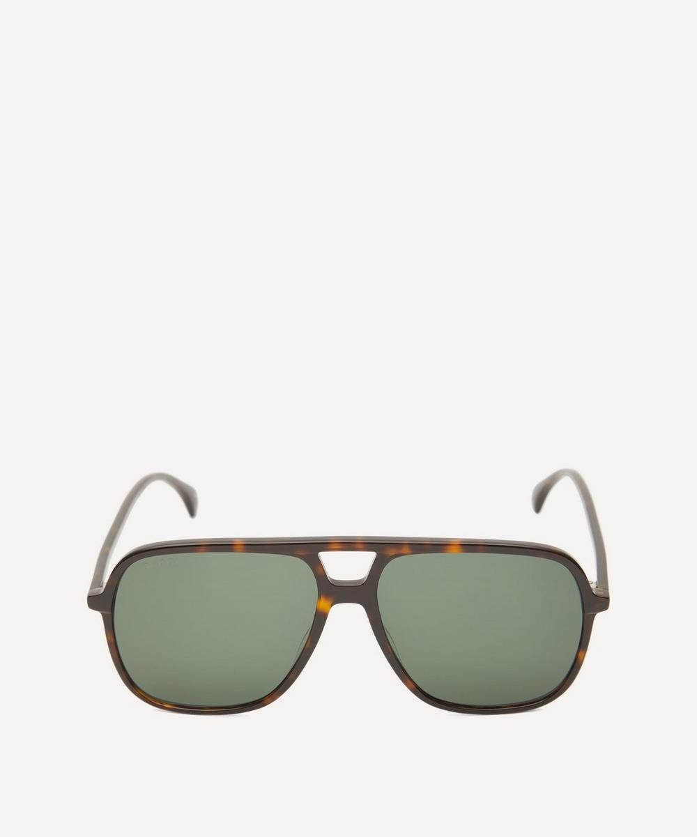 Gucci - Square Aviator Acetate Sunglasses