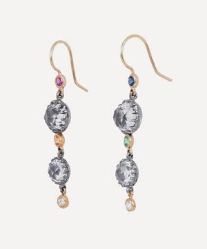 Gold and Silver Sadie Cascade Double Drop Earrings