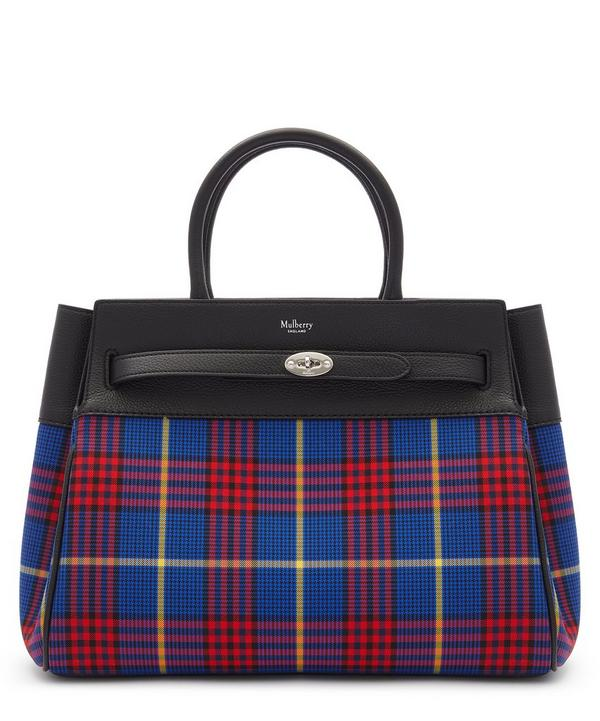 Belted Bayswater Tartan Check Cotton Canvas and Leather Handbag