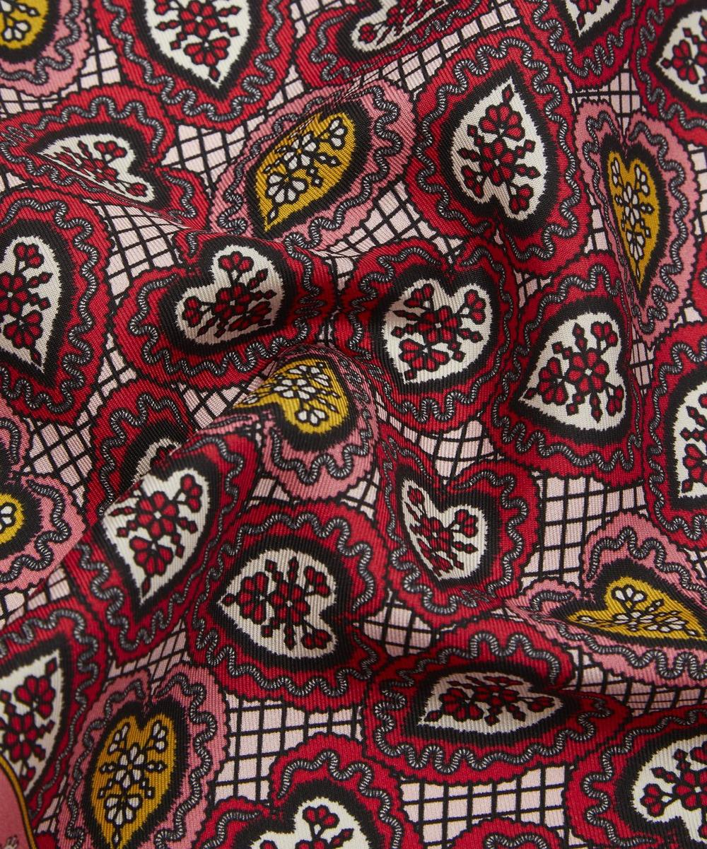 Love Lace Printed Silk Pocket Square