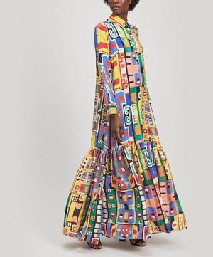 Printed Silk Maxi-Dress