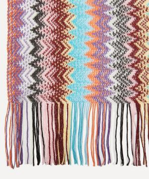 Multicoloured Zig Zag Stripe Scarf