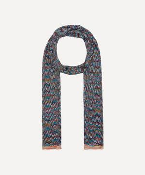 All-Over Knitted Zig-Zag Scarf
