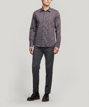 Exclusive Liberty Fabrics Peach Flower Cotton Shirt