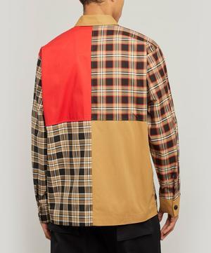Halkin Patch Zip-Up Check Shirt