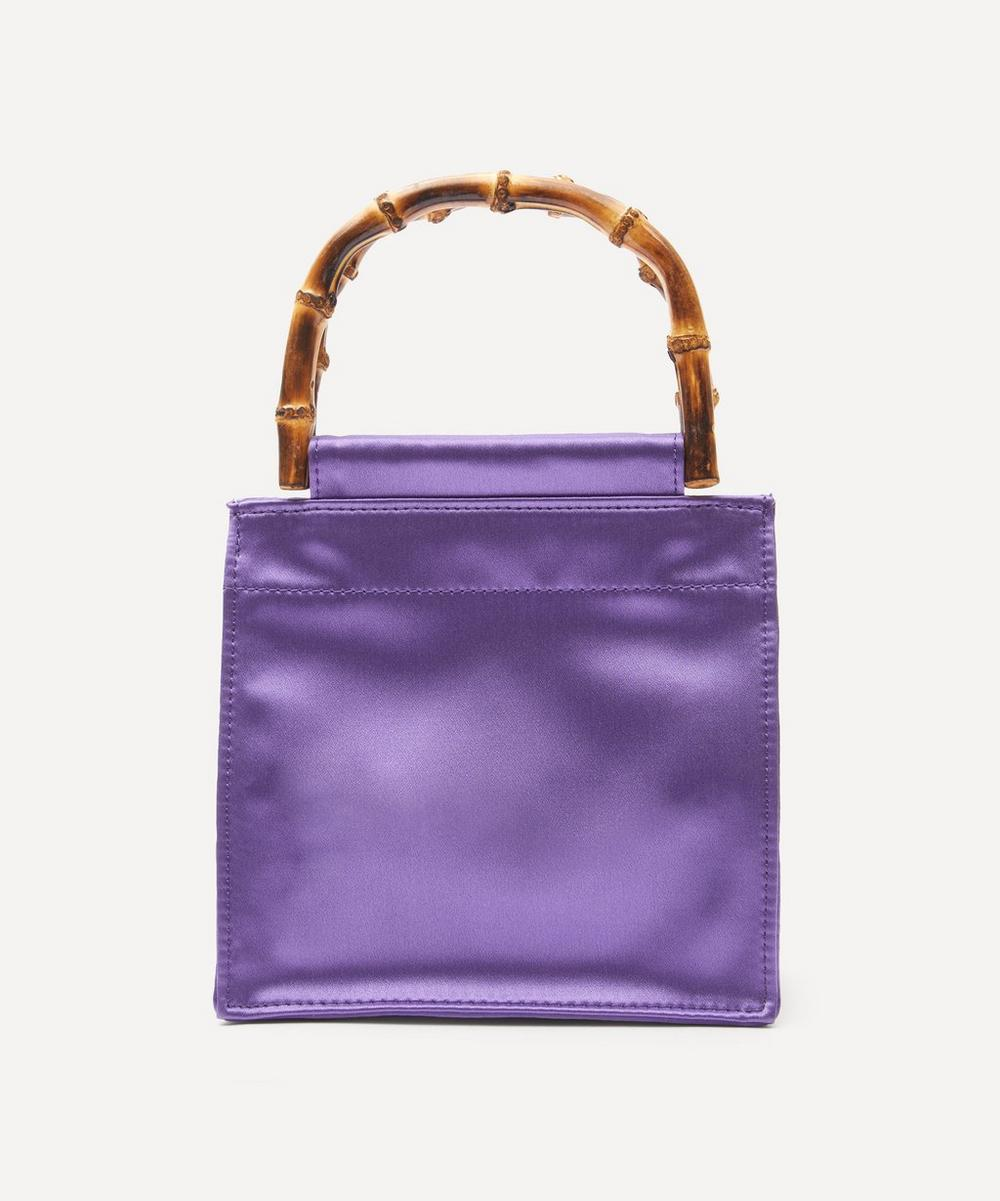 Bamboo Handle Silk Bag