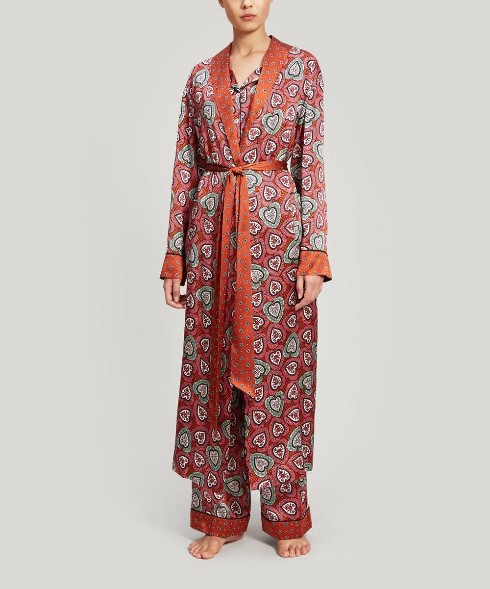 Love Lace and Thorington Silk Charmeuse Robe