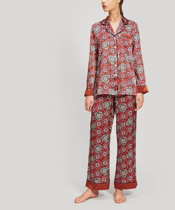 Love Lace and Thorington Silk Charmeuse Pyjama Set